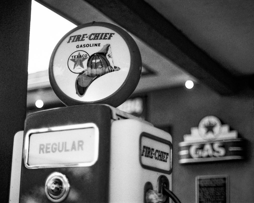 Photo of antique gas pump by Russell Viers